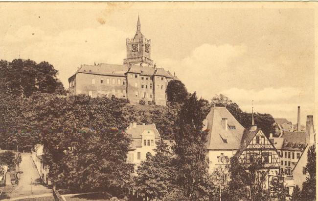 ANSICHTKAART VAN DE SCHWANENBURG TE CLEVE 1911
