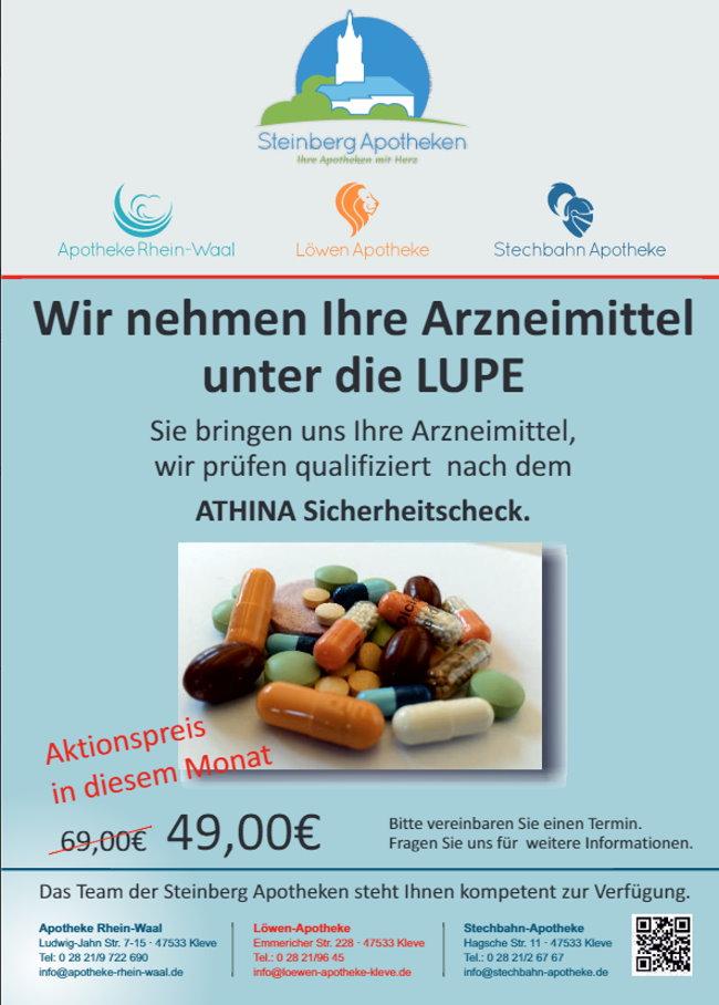 Acties in de Loewen- + Stechbahn-Apotheek + Apotheek Rhein-Waal Kleef